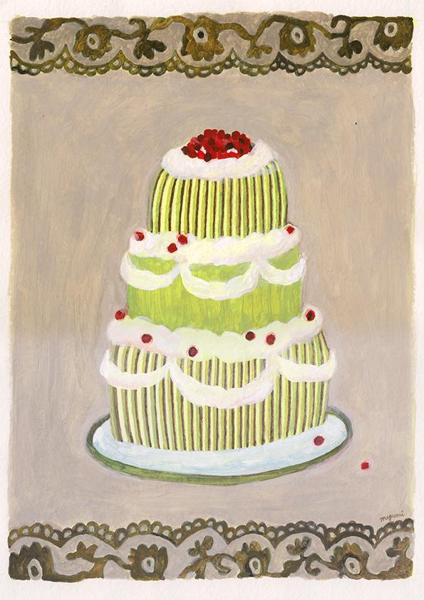しましまのケーキ