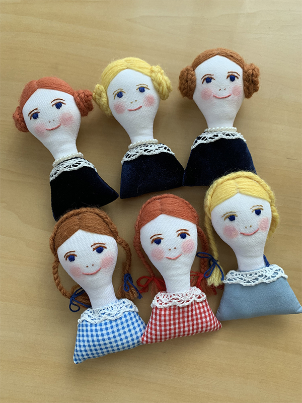 Handmade Brooches and a Doll for the Group Exhibition